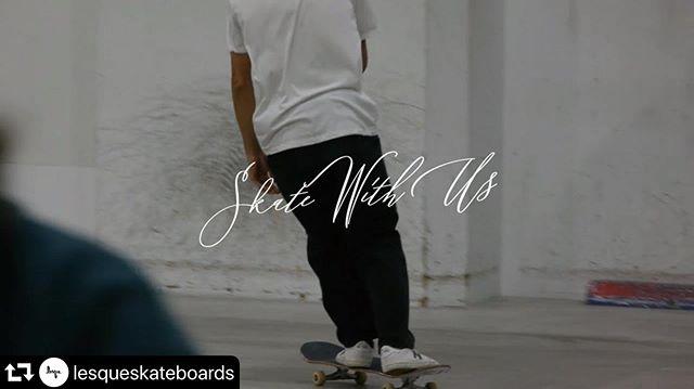 @lesqueskateboards 🤝 @instant_skateboard_shop ・・・skate with us #lesqueskateboards