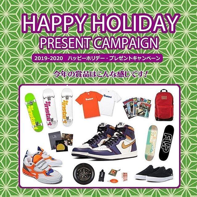 HAPPY HOLIDAY PRESENT CAMPAIGNの当選者をブログにて発表いたしました!Bio linkからブログチェックお願いします!当選者の方おめでとうございます#instantskateshop  #instanturayasu #skateboard #skateshop #スケボー #スケートボード