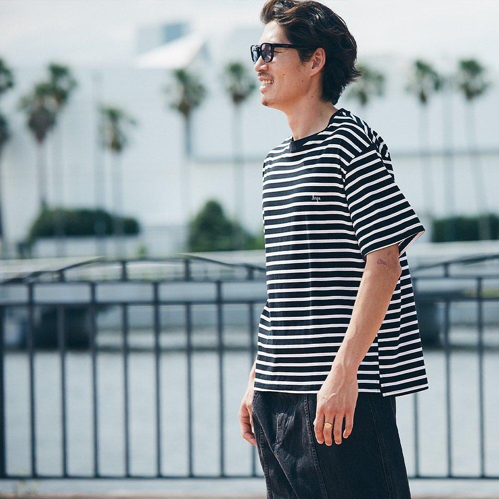 ・@lesqueskateboardsLoose Striped Shirt  #lesqueskateboards