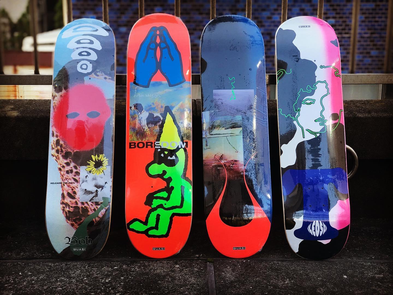 ・New @quasiskateboards decks.