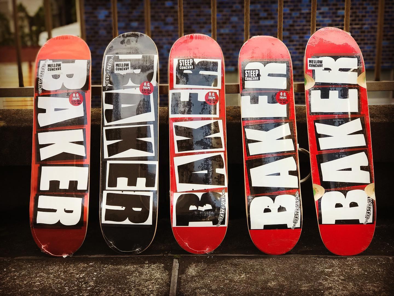 ・@bakerskateboards Logo decks.