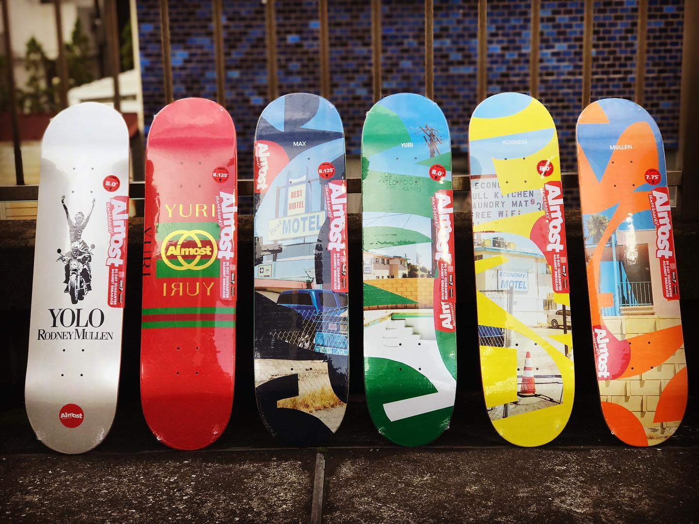 ・New @almostskateboards decks.