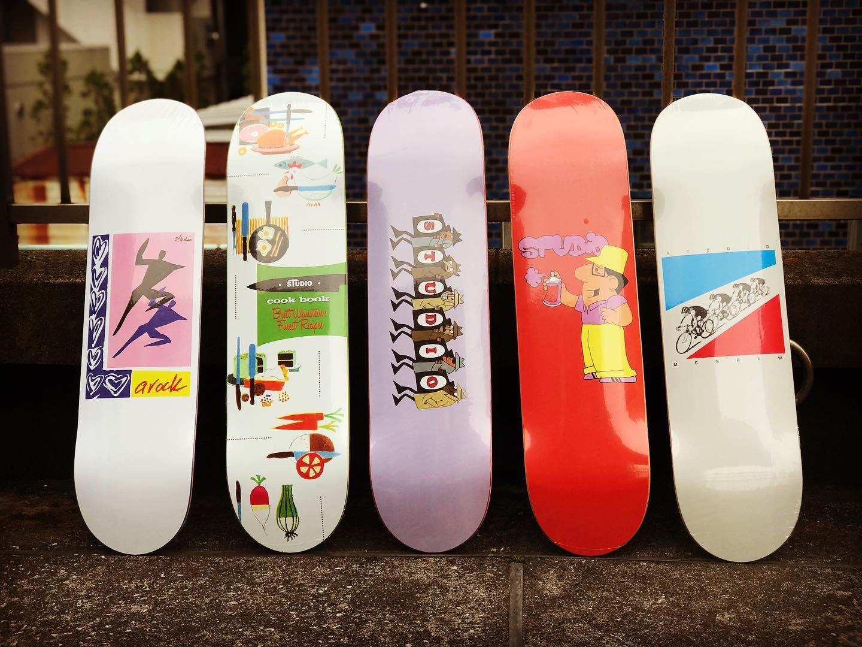 ・New @studioskateboards decks.