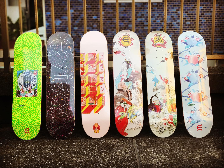 本日発売ゑNew @evisenskateco decks.