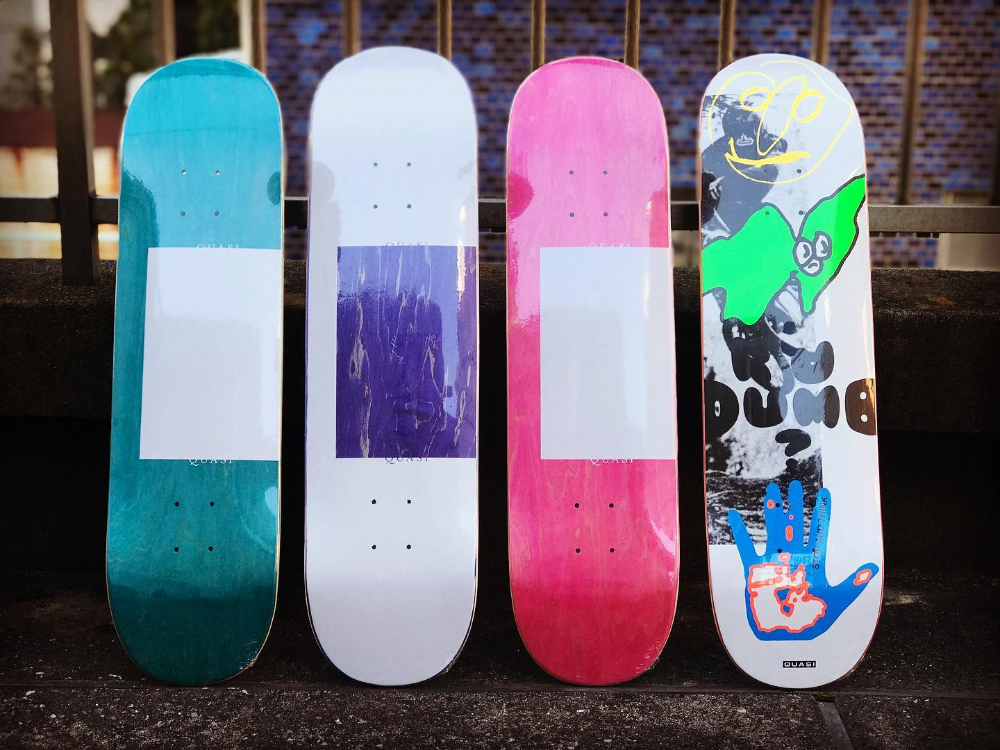 ・New @quasiskateboards decks.