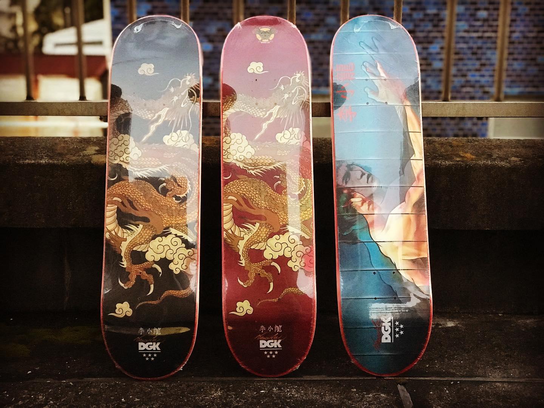・New @dgk decks.・・・Return of the DragonDgk x @brucelee