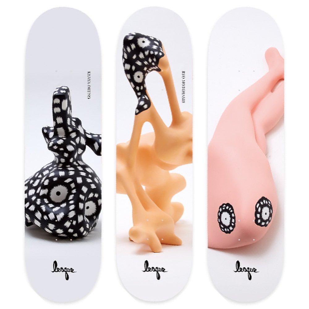 ・New @lesqueskateboards decks.・・・@kenseiyabuno Capsule collection