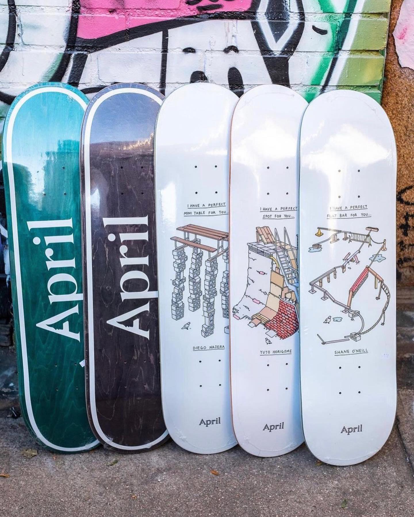 ・New @aprilskateboards decks.