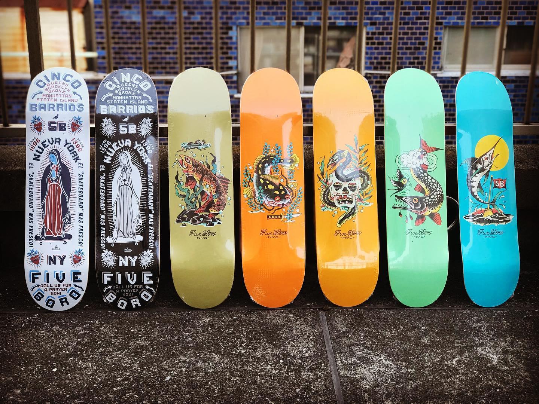 ・New @5boronyc decks.