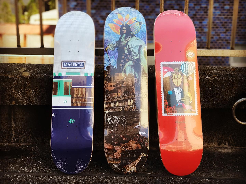 ・@magentaskateboards New decks.
