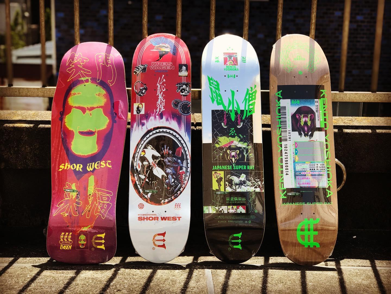 ・New @evisenskateco decks.EVISENから @japanese_super_rat と @underthekneez の1stProモデルがリリース