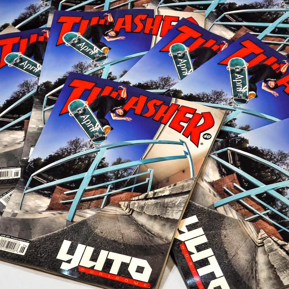 .@thrashermag JUNE 2021 / #491@yutohorigome Congratulations