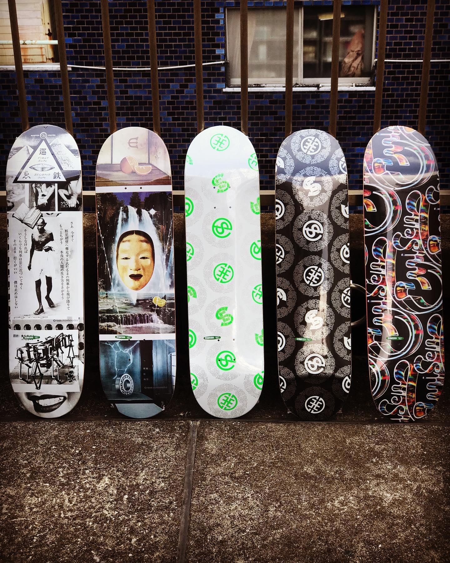 ゑNew @evisenskateco decks. プロスケーター南勝己により2011年に発足されたスケートカンパニー「Evisen Skateboards/エビセン」。Instantライダーの @japanese_super_rat も所属する、日本のみならず世界から多くの支持を集める日本を代表するブランド。