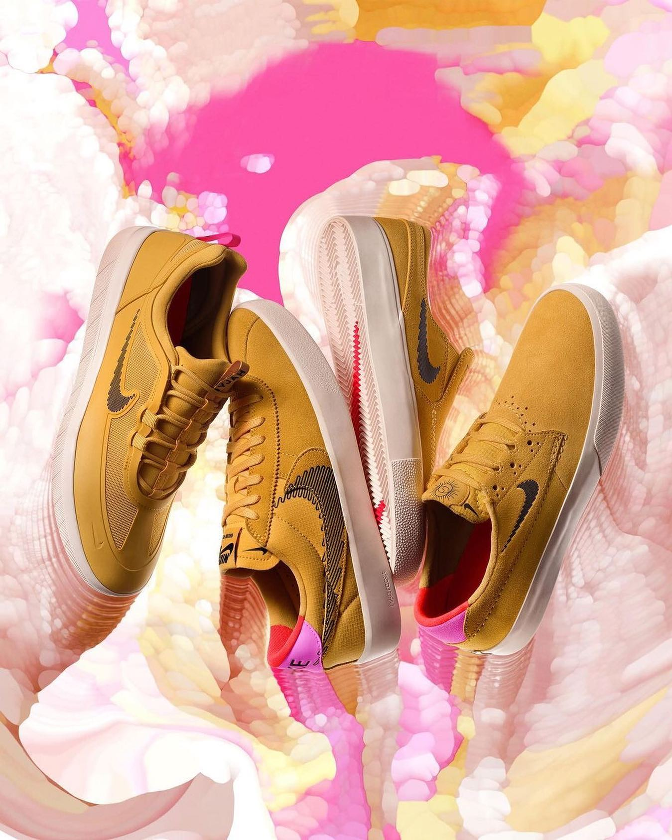 Pollen Pack@nikesb  A pop of pollen This is the Nyjah Free 2, Bruin React T, Janoski Slip, and Shane T Pollen Pack.Available now in @instant_kichijoji @instant_odaiba @instant_shibuya @instant_shizuoka @instant_chiba @instant_skateboards