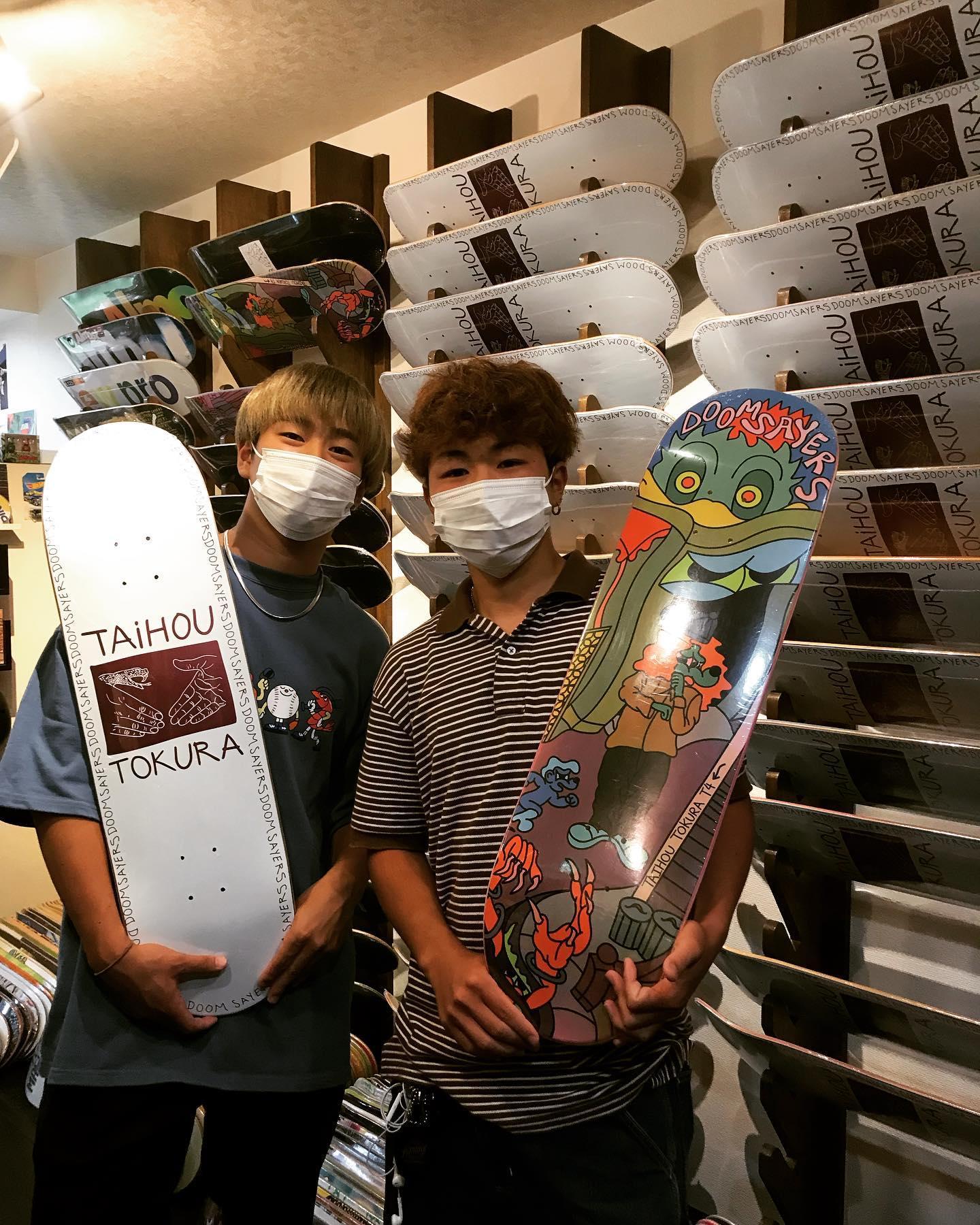 地元の仲間も応援してくれます️ありがとう🗣🤝#doomsayers #t4 #taihotokura #戸倉大鳳#instantskateshop