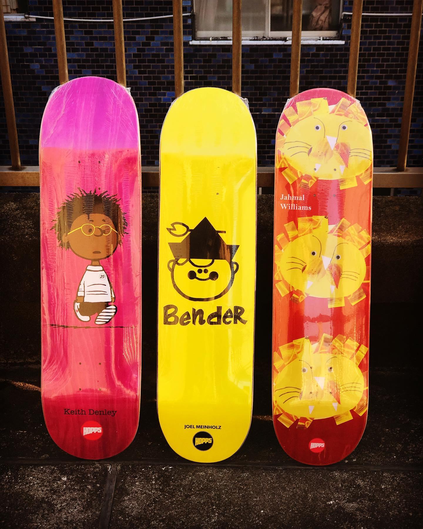 New @hoppsskateboarding decks.@keithdenley 1st Pro model
